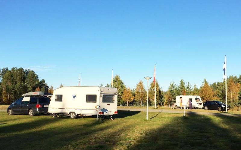 Camping in Lapland, Zweden